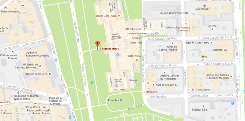 Map based orientation. Interpretation required. In front of the Velazquez Entrance, Museo del Prado (Madrid - Spain)