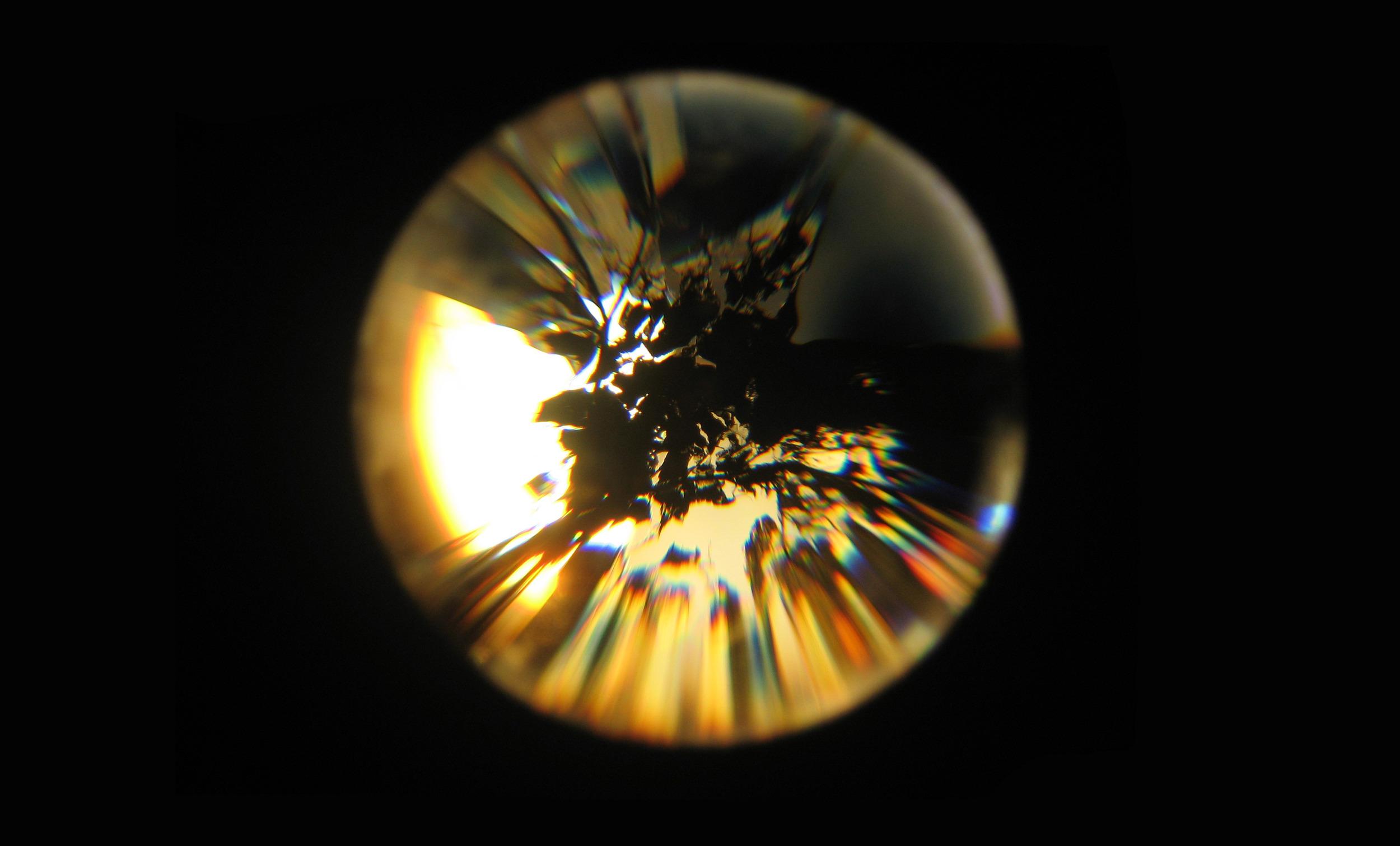 Projection Cluster. Deconstructed slide projectors, condenser lenses and debris. 2006