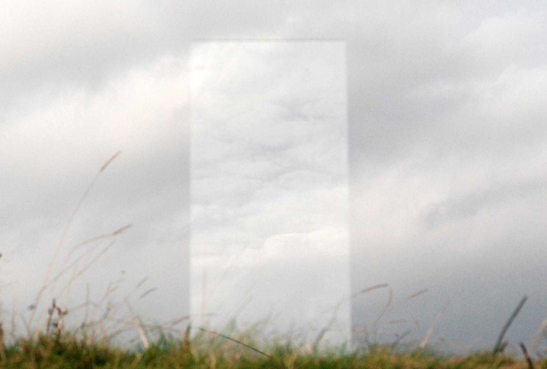 Monolith. Glass, steel. 2014
