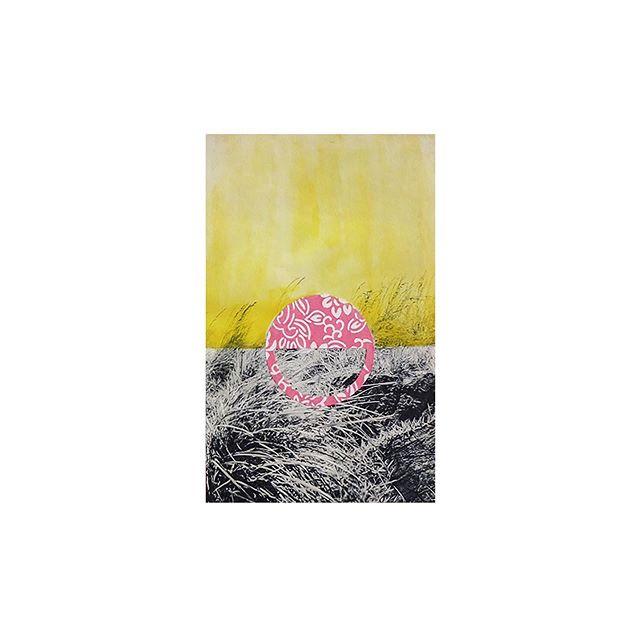 いらない言葉 🔅three shades, not sure if this counts as a sketch... #アート #景色 #コラージュ #handcut #washi #collage #papercollage #landscape