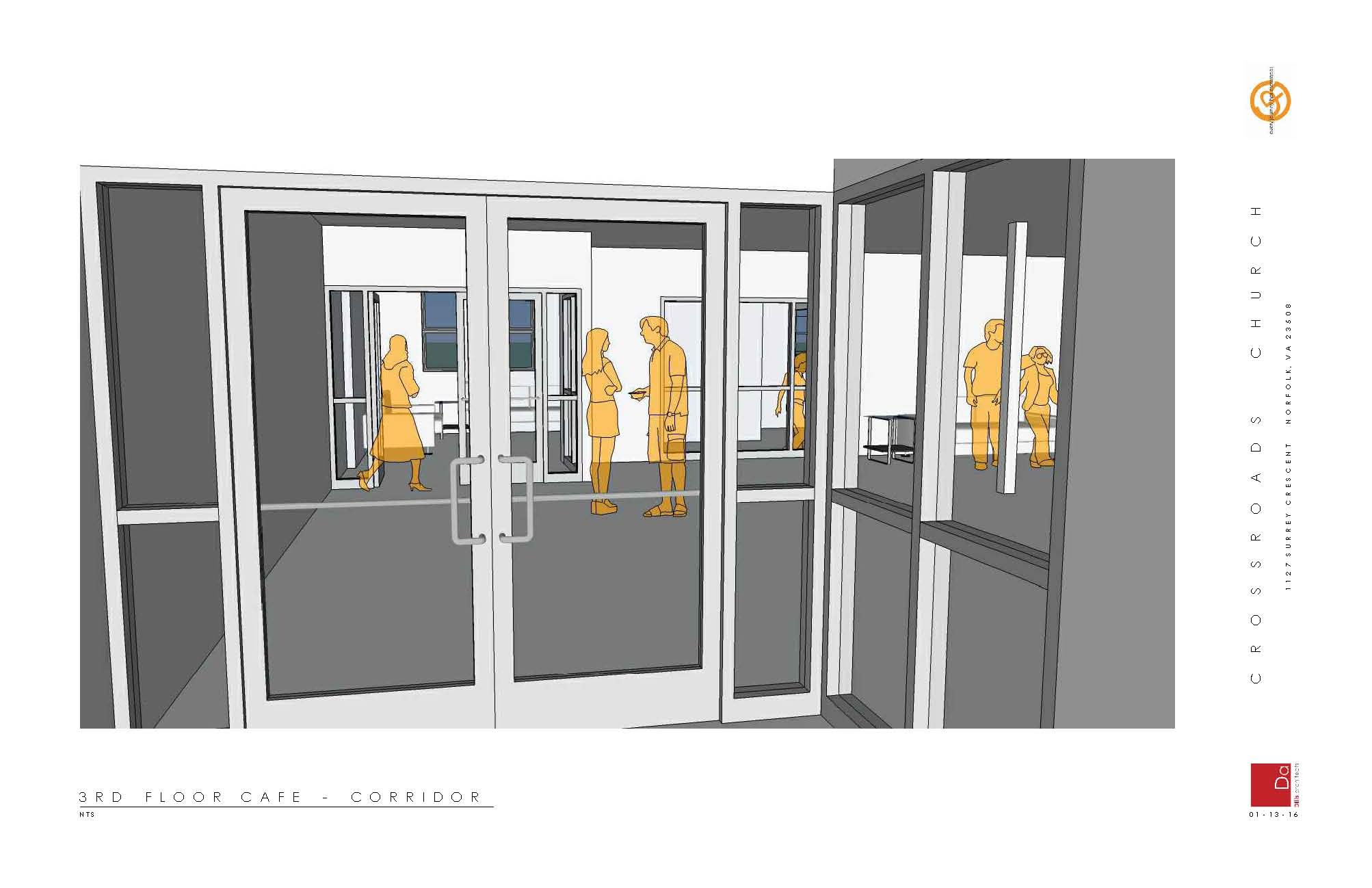 Entry to 3rd floor Event Room