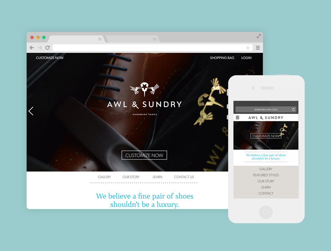 Responsive Redesign for Awl & Sundry