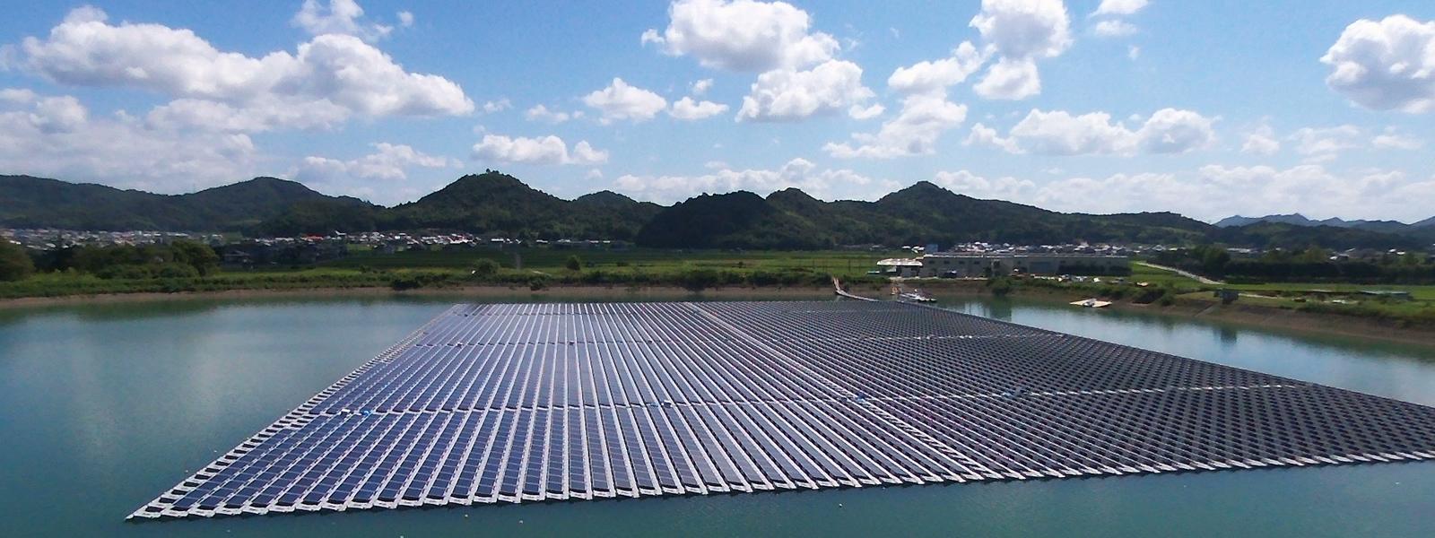 河原山池水上太陽光発電所(兵庫) - 画像はシエルテール社より提供
