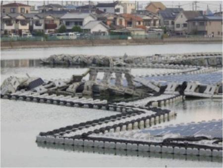 図4.台風の影響を受けた大阪狭山にあるプロジェクト