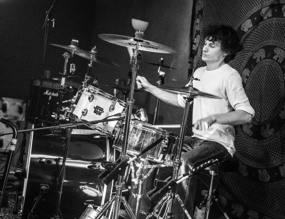 Drumming at Ritz Studios, London