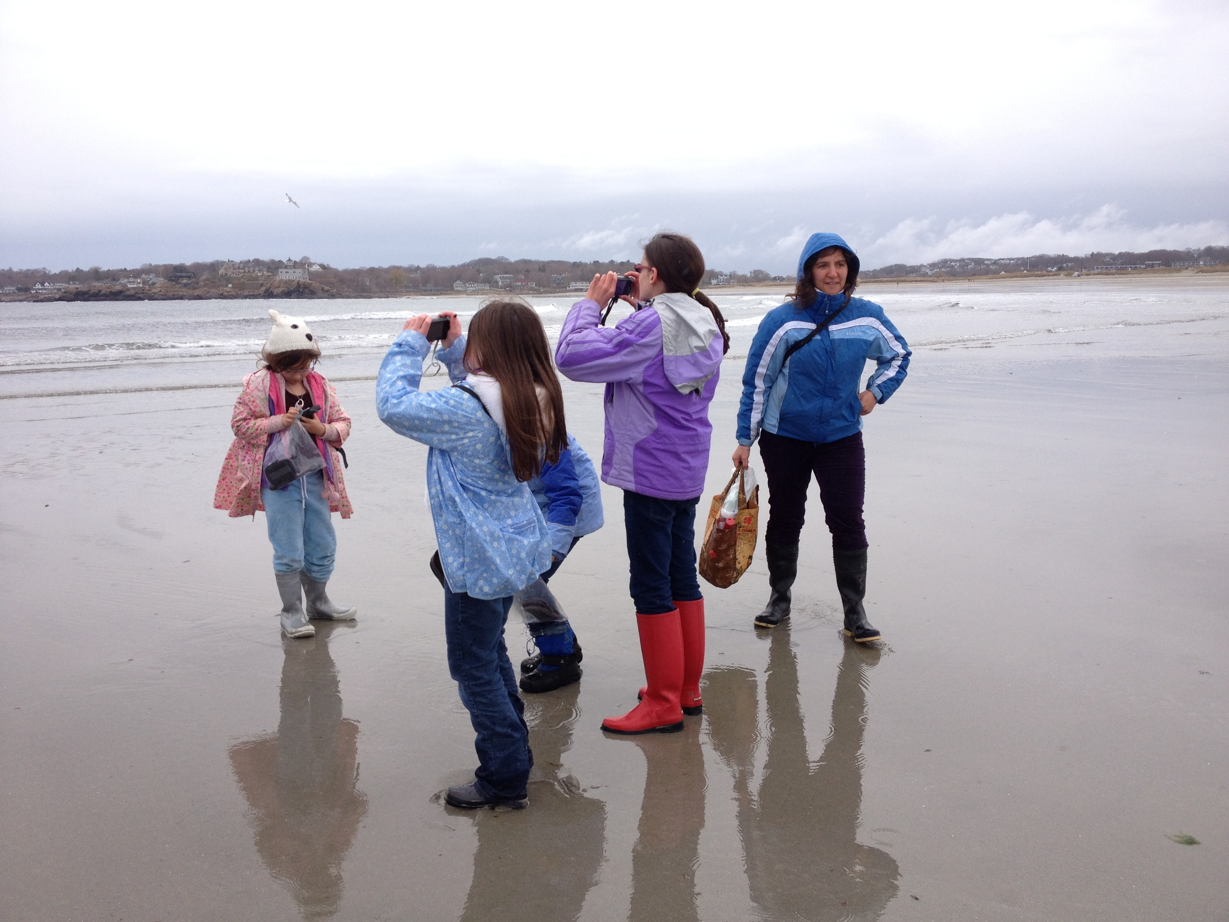 Jessica with a group ofstudents from our popular nature filmmaking class - Lights. Camera. Nature!