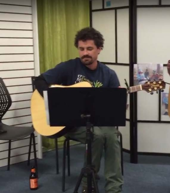 Jeff jamming at one of our Get Outside Center Events!