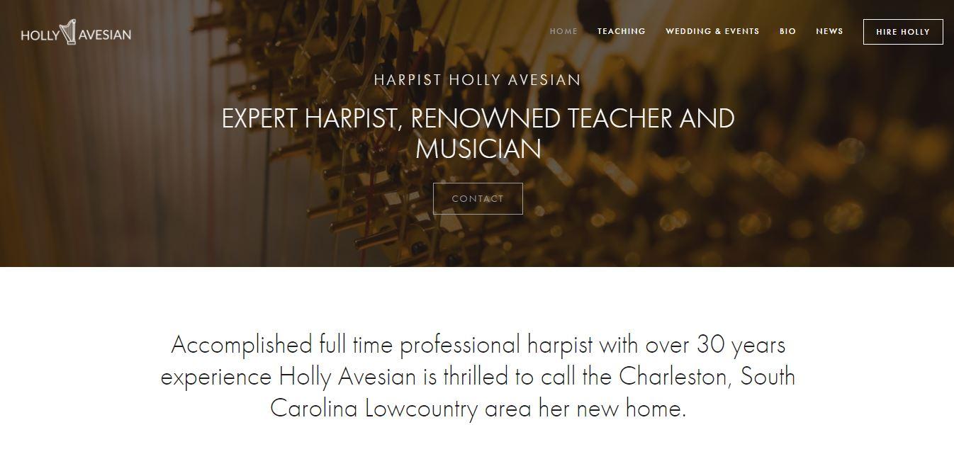 Hollyavesianharpist.com