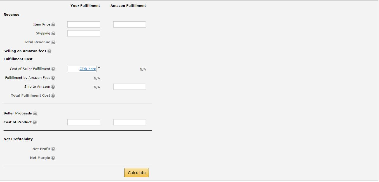 fba calculator amazon