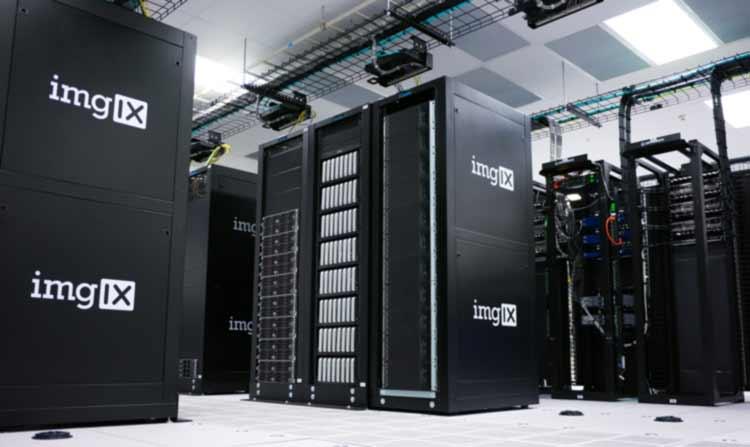 Neatly organized server room
