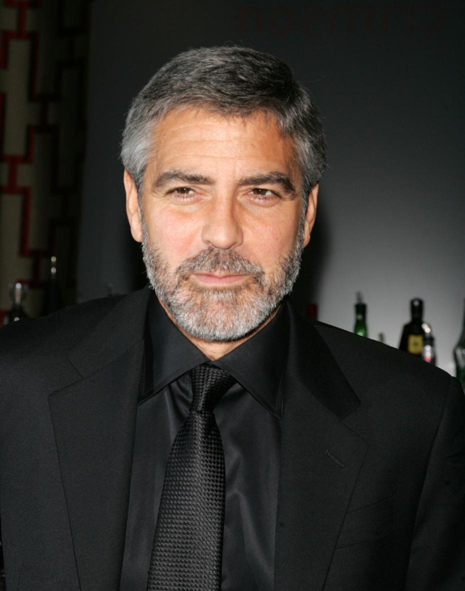Here is a fine example of how a beard should be sported! glorious silver fox himself George Clooney with a majestic well trimmed beard.