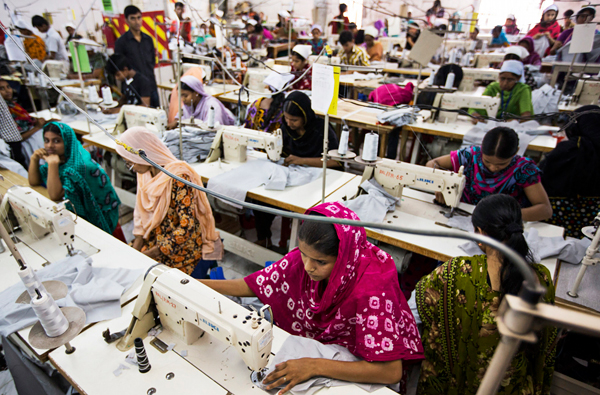 A clothing factory in Bangladesh