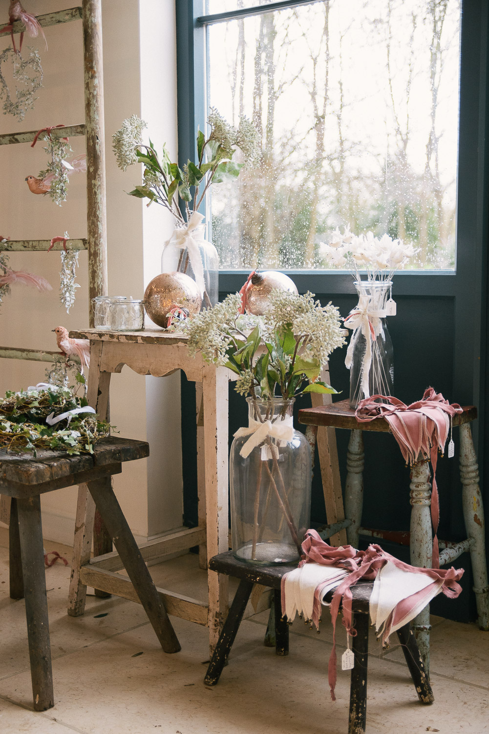 A lovely selection of our perfectly pink Christmas decorations!