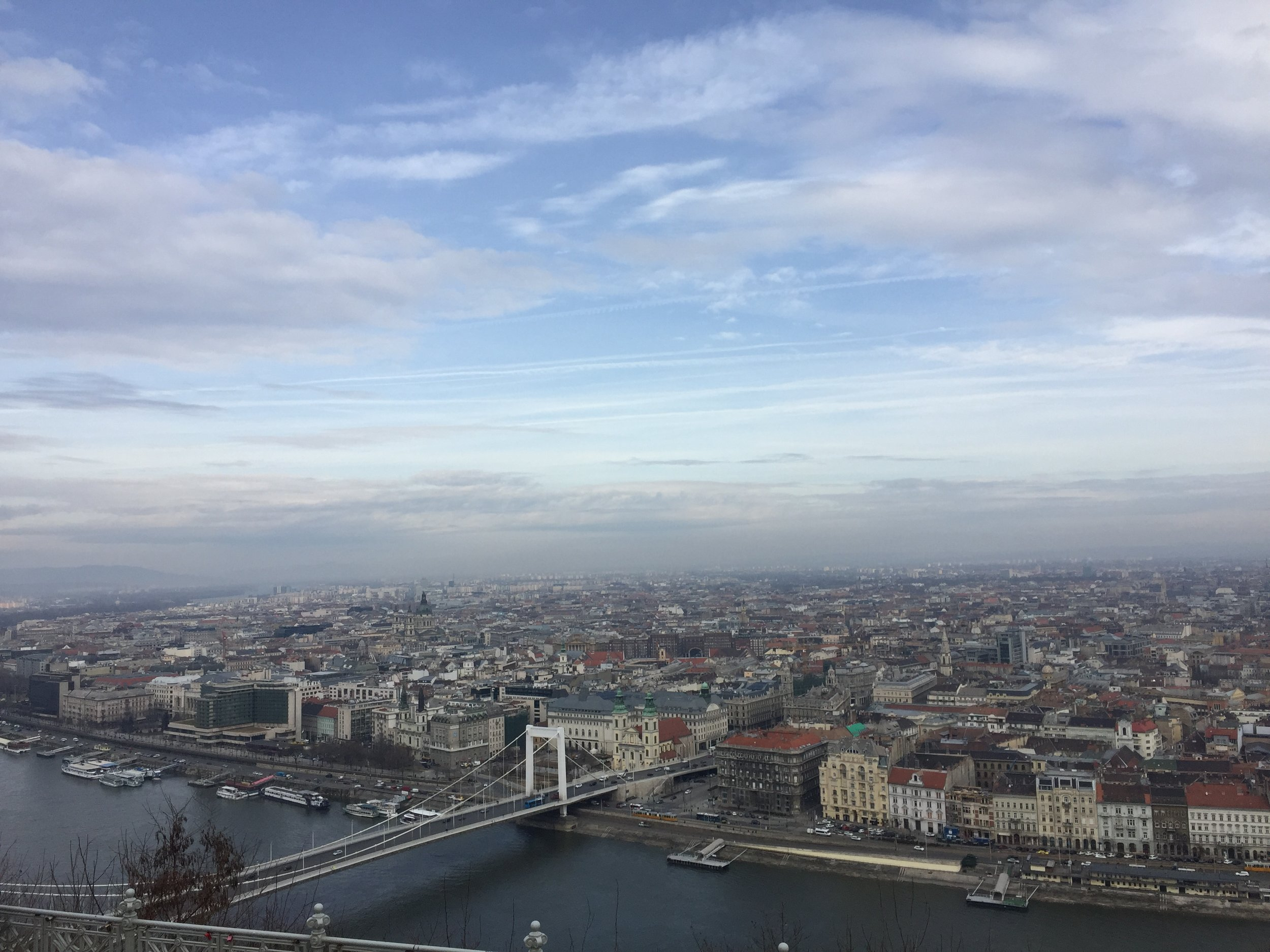 The view from the top of Gellért Hill