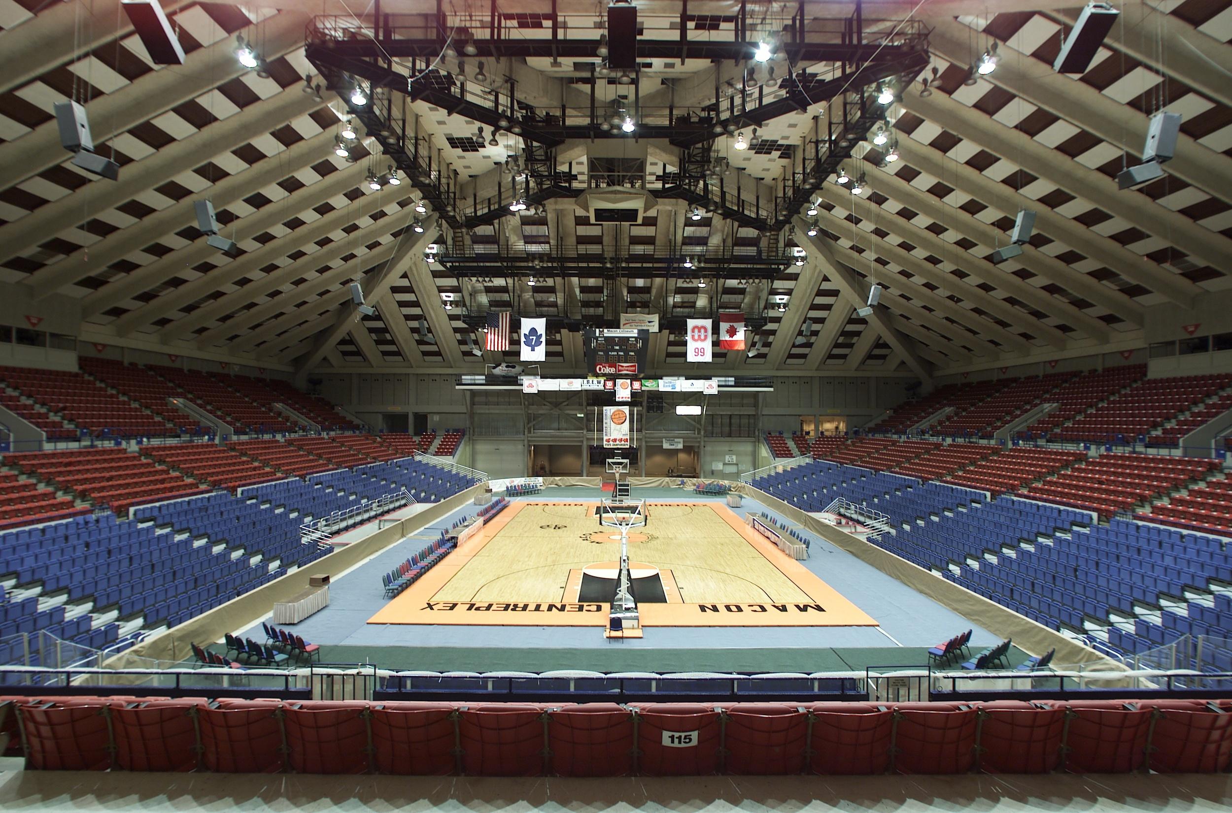 Macon Centreplex Basetball Court. Macon, Georgia
