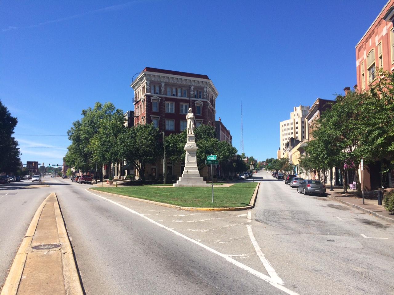 Confederate Statue. 2nd St at Cotton Avenue. Macon, Georgia