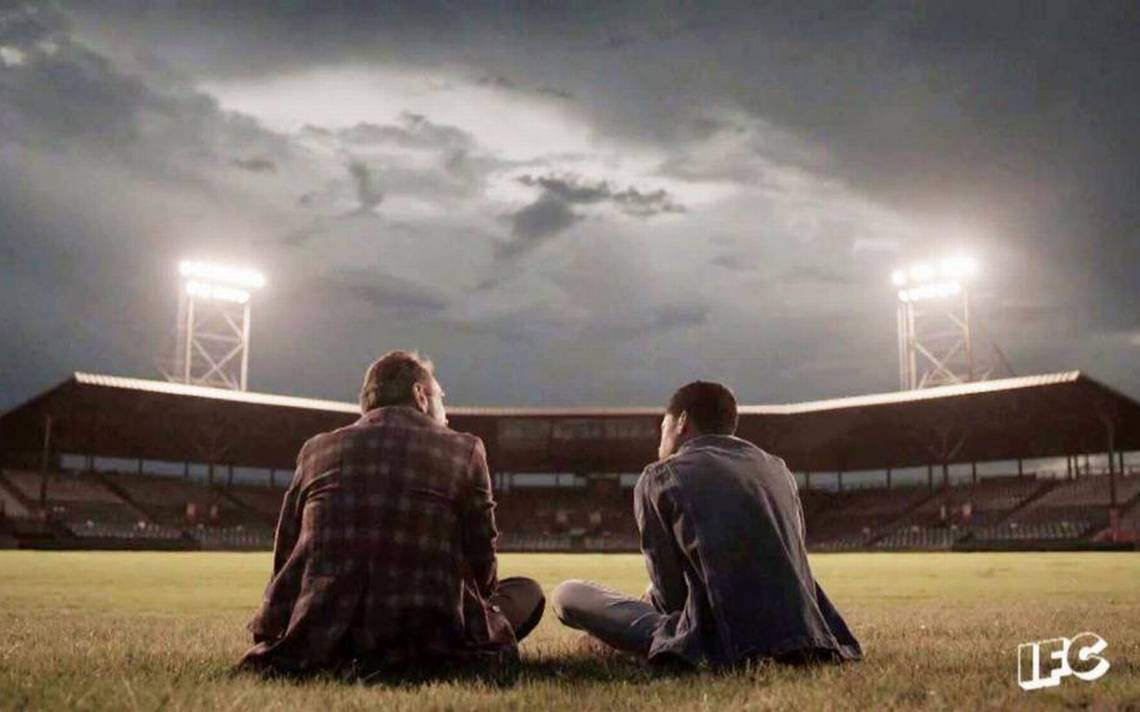 """IFC Channel's TV series """"Brockmire"""" at Luther Williams Field. Macon, Georgia"""