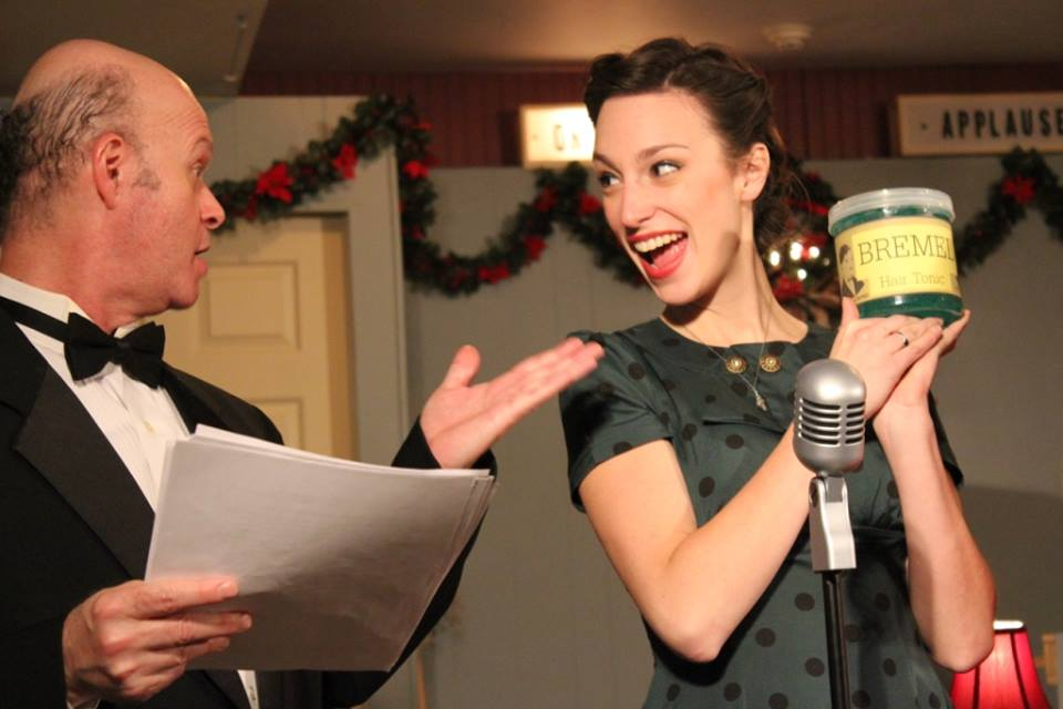 From It's a Wonderful Life: The Radio Play at Oil Lamp Theater. Photo by Keith Gerth.