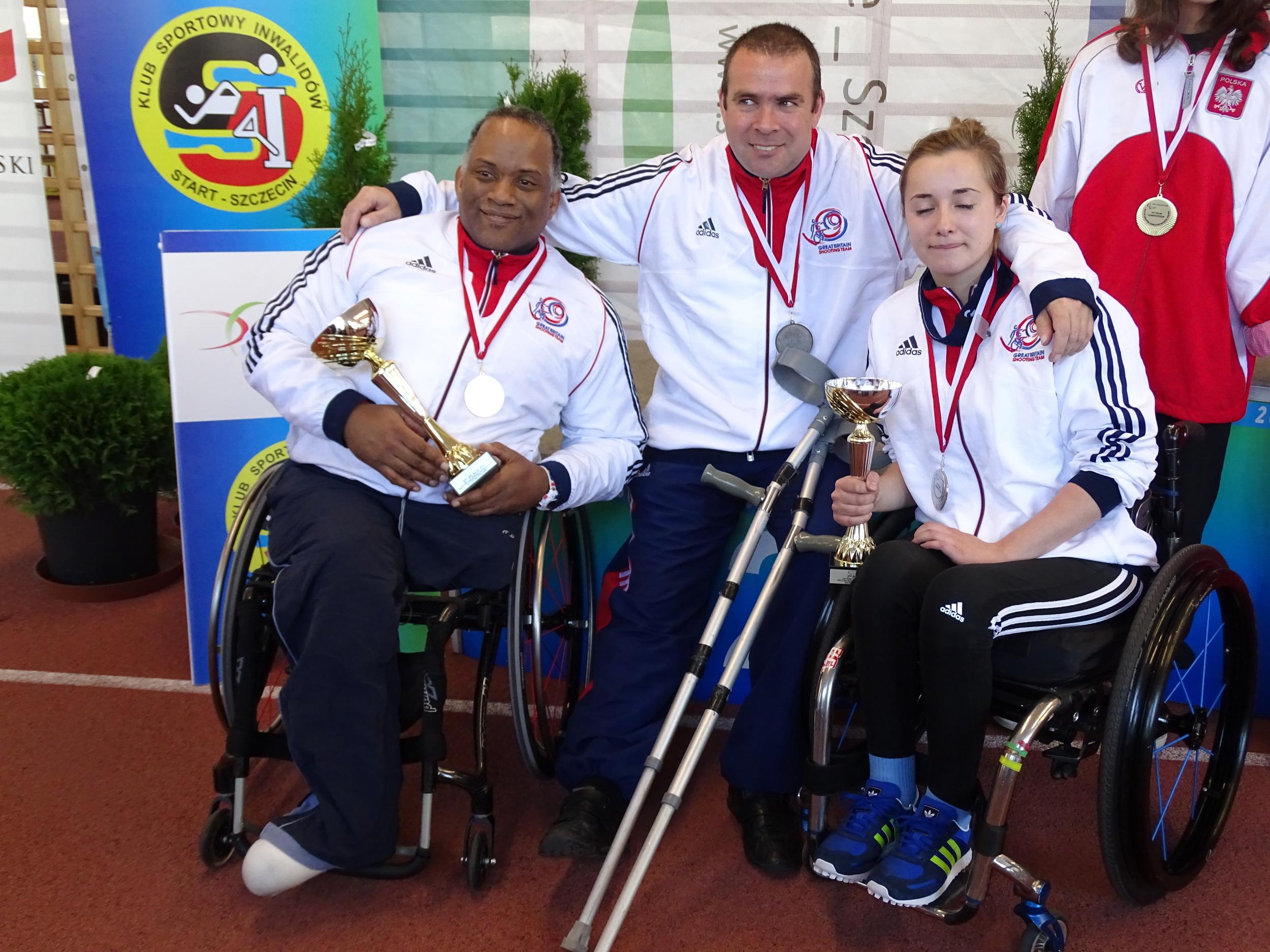 P5 Team Silver medallists (Carter, Nangle, Bailey)