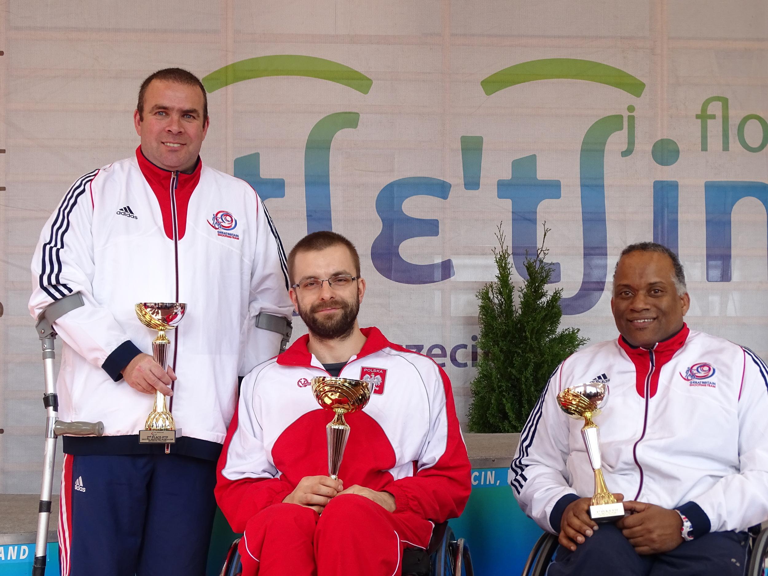 Falling Target Pistol, Bronze Medallist Roy Carter, Silver Medallist Steart Nangle