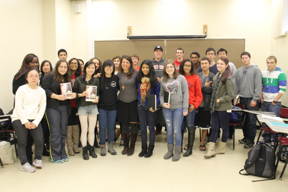 Novelist Jessica Lott visits Intro to Fiction and offers heart-warming and honest dialogue on the process and power of fiction.
