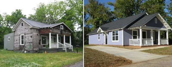 A property in Southernside before and after an ATCEDC home is built