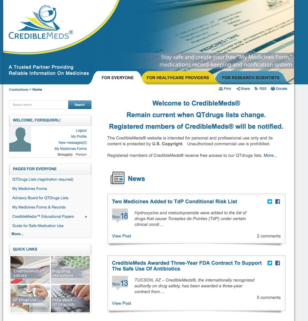 Long QT Medication Website