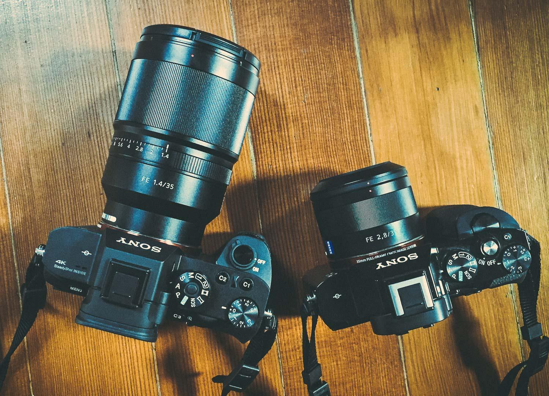 Sony a7R II with Sony FE 35mm F1.4, and Sony a7S with Sony FE 35mm F2.8