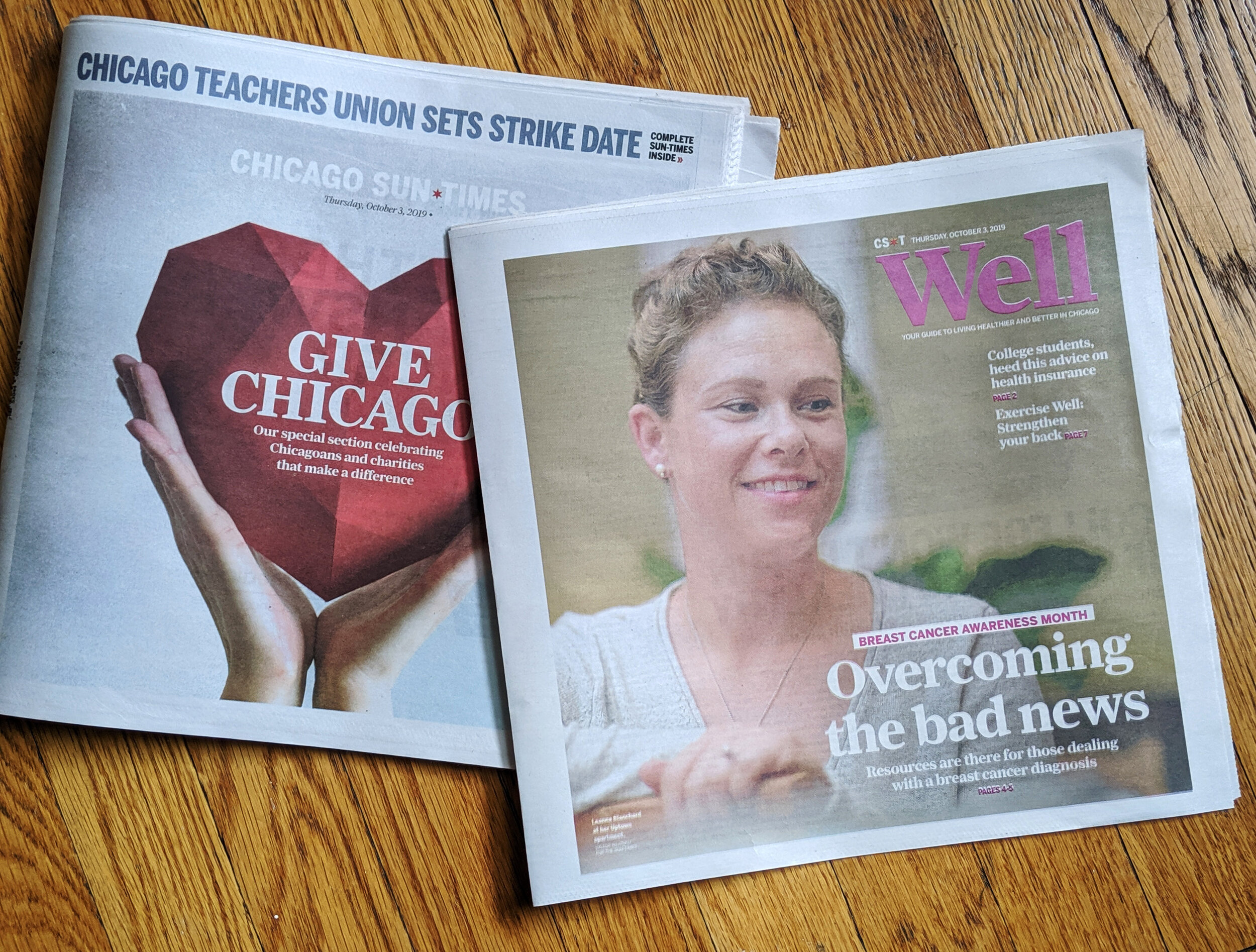 Cover of the WELL section of the Chicago Sun-Times  Cover of the WELL section of the Chicago Sun-Times