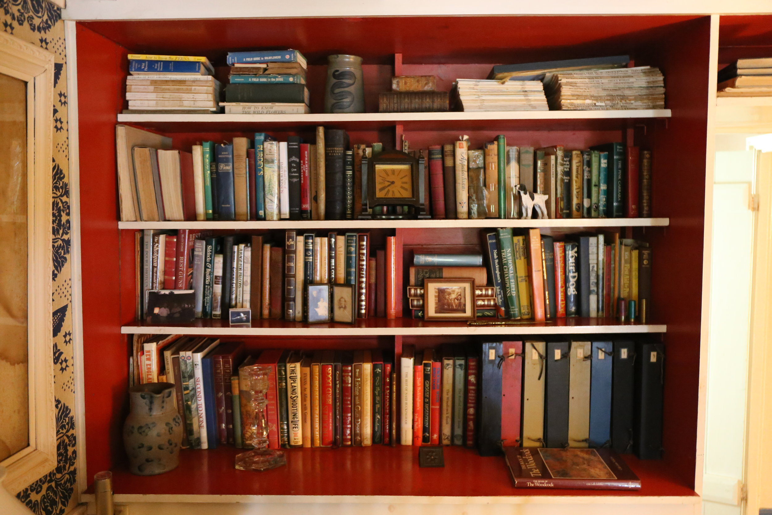 George's book collection.