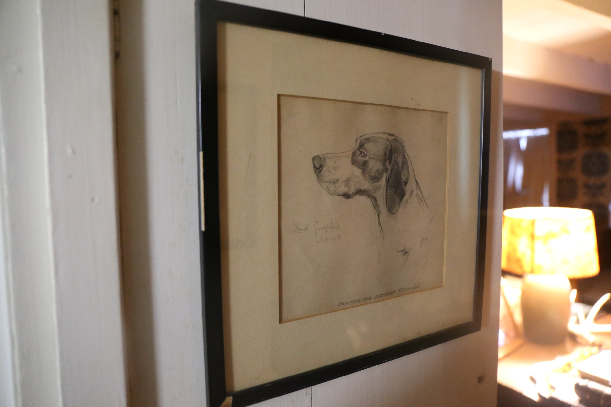 An original sketch by Edmund Osthaus, one of George's prized possessions.