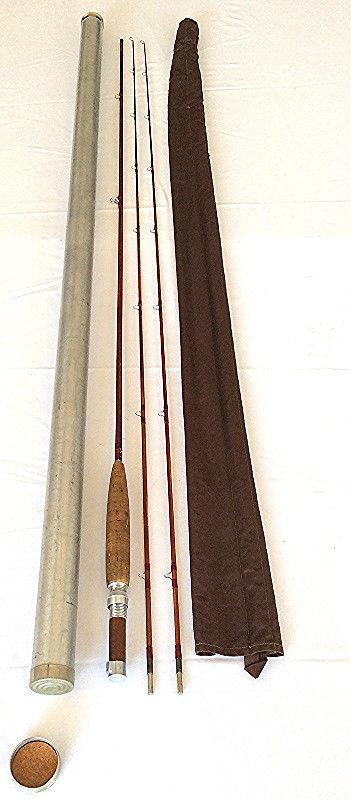 Vintage Orvis 8' Manchester split bamboo fly rod George Reid & Carl Skinner