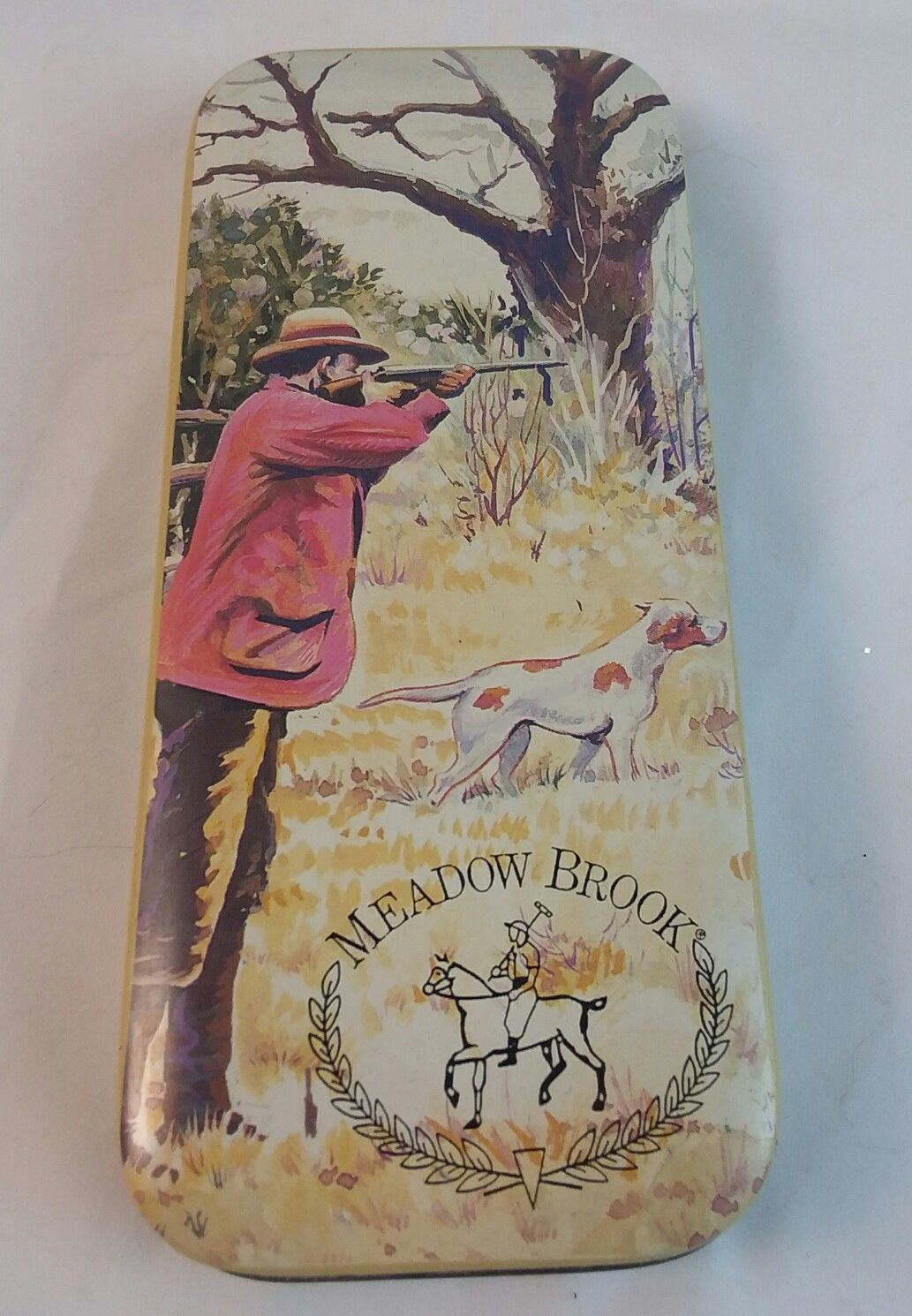 Hunting Scene Tin Box