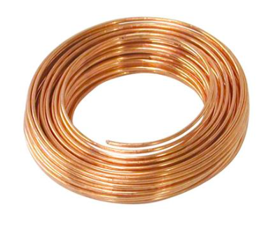 22 gauge or similar sized copper wire. This is used to suspend your piece to be electroformed into the beaker, as well as to connect your copper anodes together.