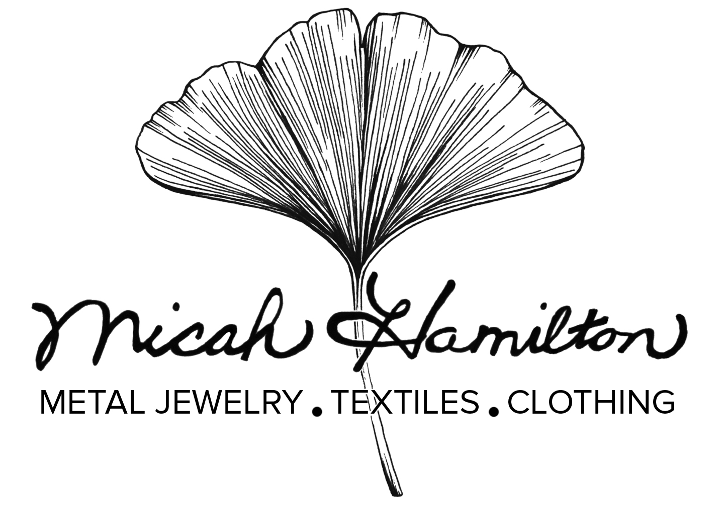 My business logo is an image of a ginkgo leaf (drawn by   Lauren Miller ) and my name written in the handwriting of my Grandmother.