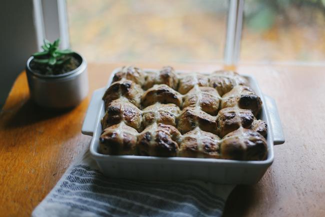 hot cross buns + candied orange peel