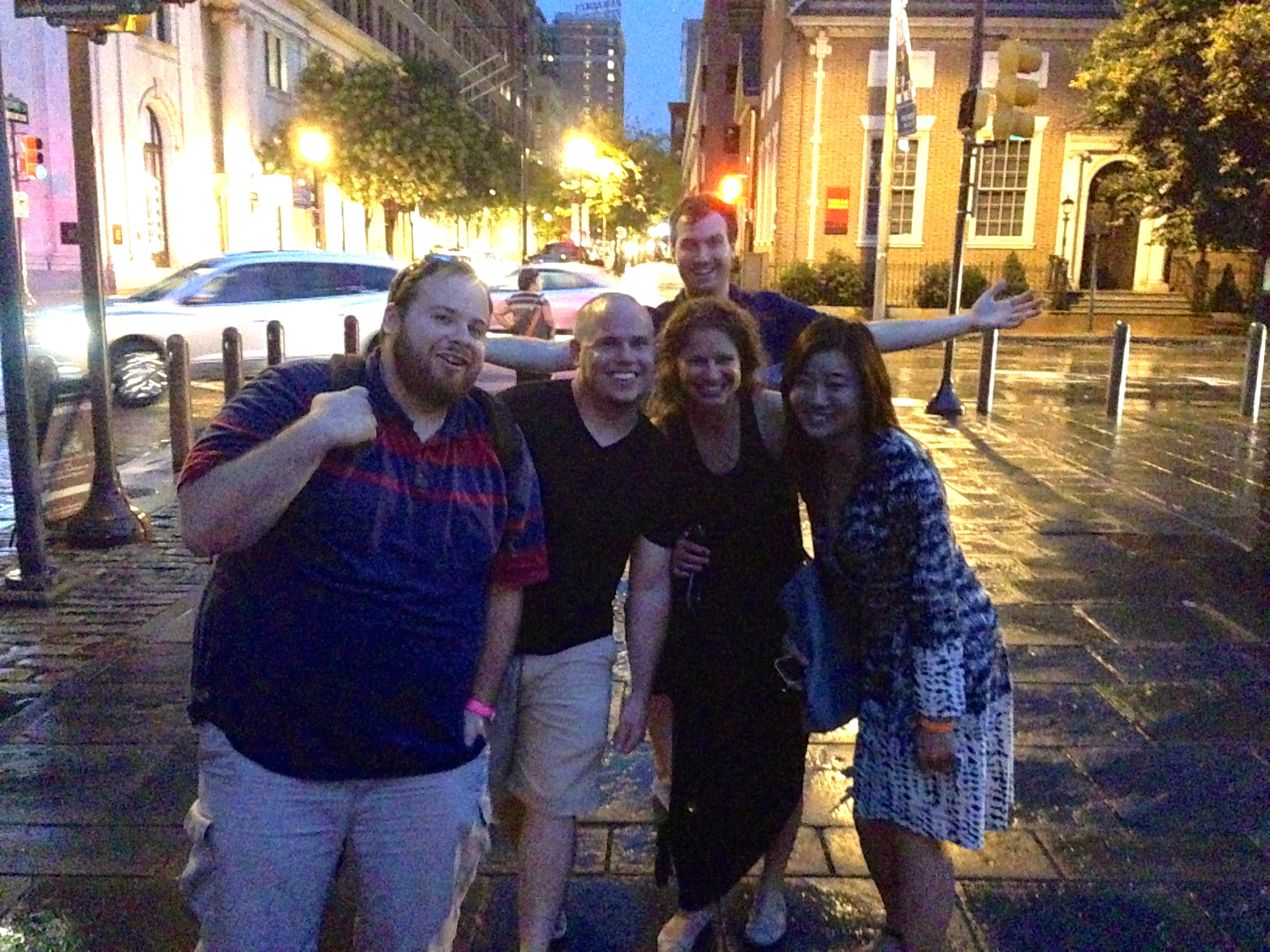 Josh, Tim, Alyssa, Esther and Jonathan on the cobbled streets of Old City.