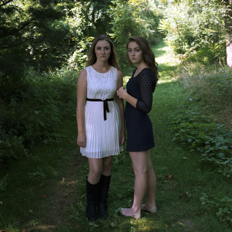 christine and amy (far)