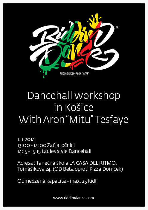 "Dancehall workshop in Košice with Aron""MITU"""