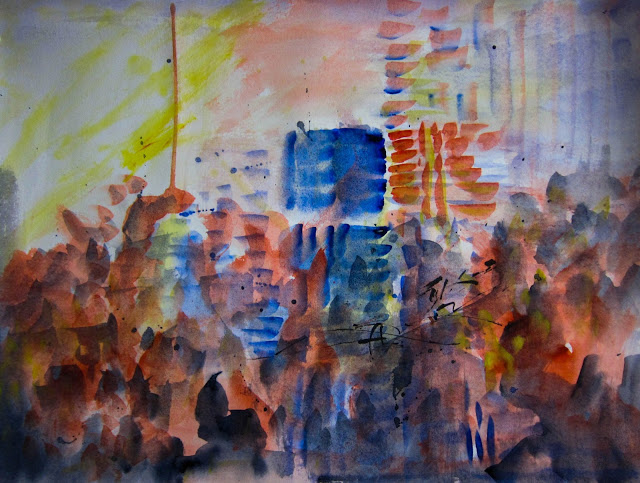 "In The Land of Ooo, Watercolor on paper, 24"" x 18"", 2014 (6 of 7)"