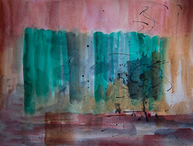 "In The Land of Ooo, Watercolor on paper, 24"" x 18"", 2014 (5 of 7)"
