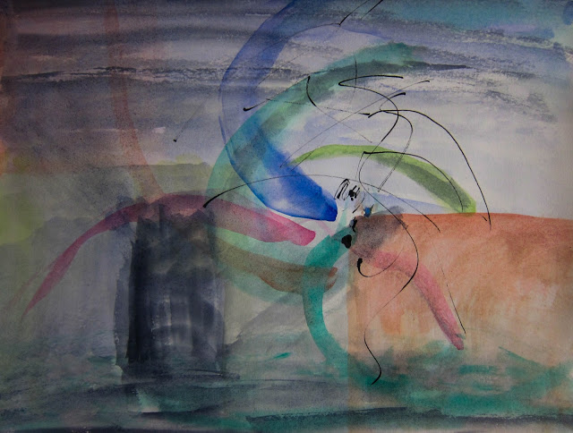 "In The Land of Ooo, Watercolor on paper, 24"" x 18"", 2014 (2 of 7)"