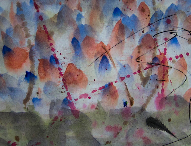 "In The Land of Ooo, Watercolor on paper, 24"" x 18"", 2014 (1 of 7)"