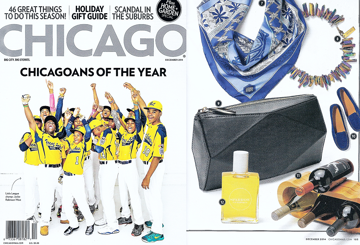 Chicago Magazine Features Pleats Design Diamond Clutch