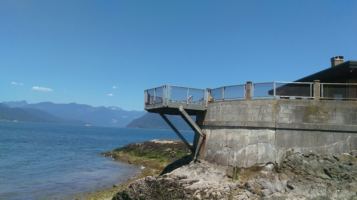 The dream house overlooking what I think is Bowen Island....or Boyers Island.