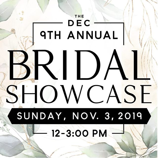 Aberdeen area brides - save the date for the D.E.C. Bridal Showcase on Nov. 3! 🖤I'm delighted to once again be a sponsor and have the honor of designing the marketing pieces for this event. This show is very close to my due date so I will likely not be in attendance but will have samples displayed and encourage you to email me with any questions in the meantime, especially if you are planning a Spring 2020 wedding (Mar - May)! 💌 hello@confetticr.co