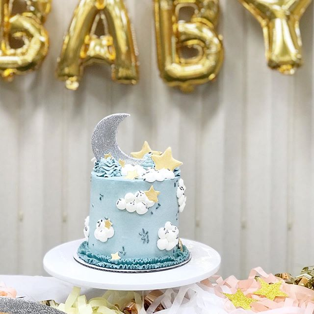 This weekend we got to celebrate baby with the sweetest shower that included this darling cake by @shantellgross ✨ This little one is already so, so loved and we are so very grateful.