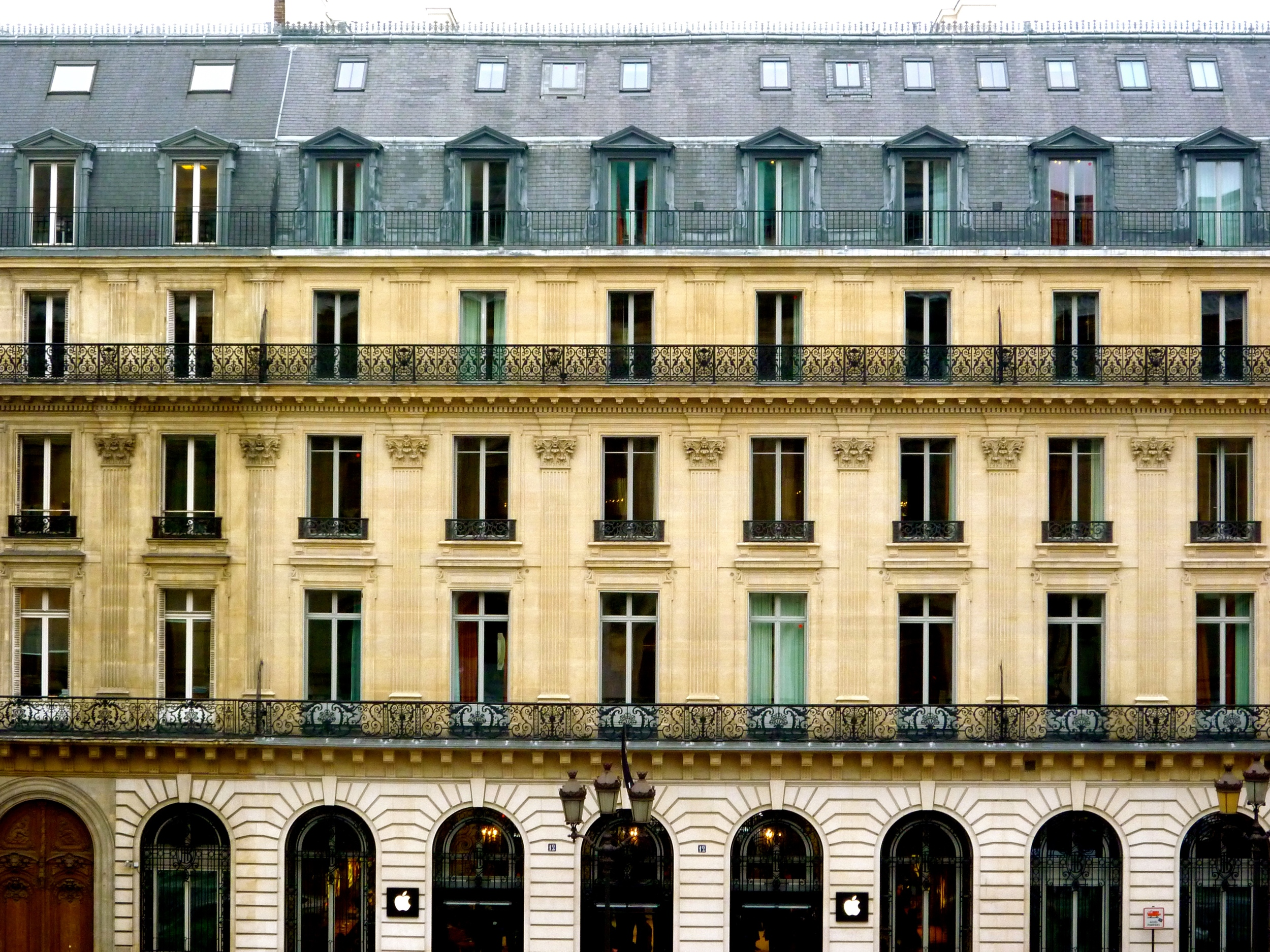 A Haussmann apartment building in Paris
