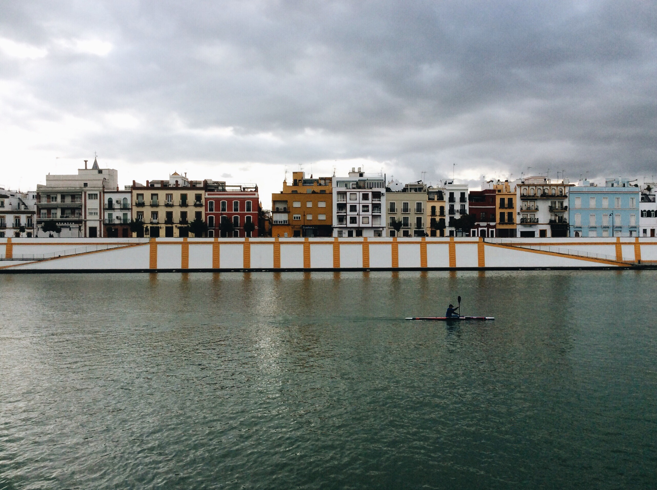 Looking across the river at the Calle Betis