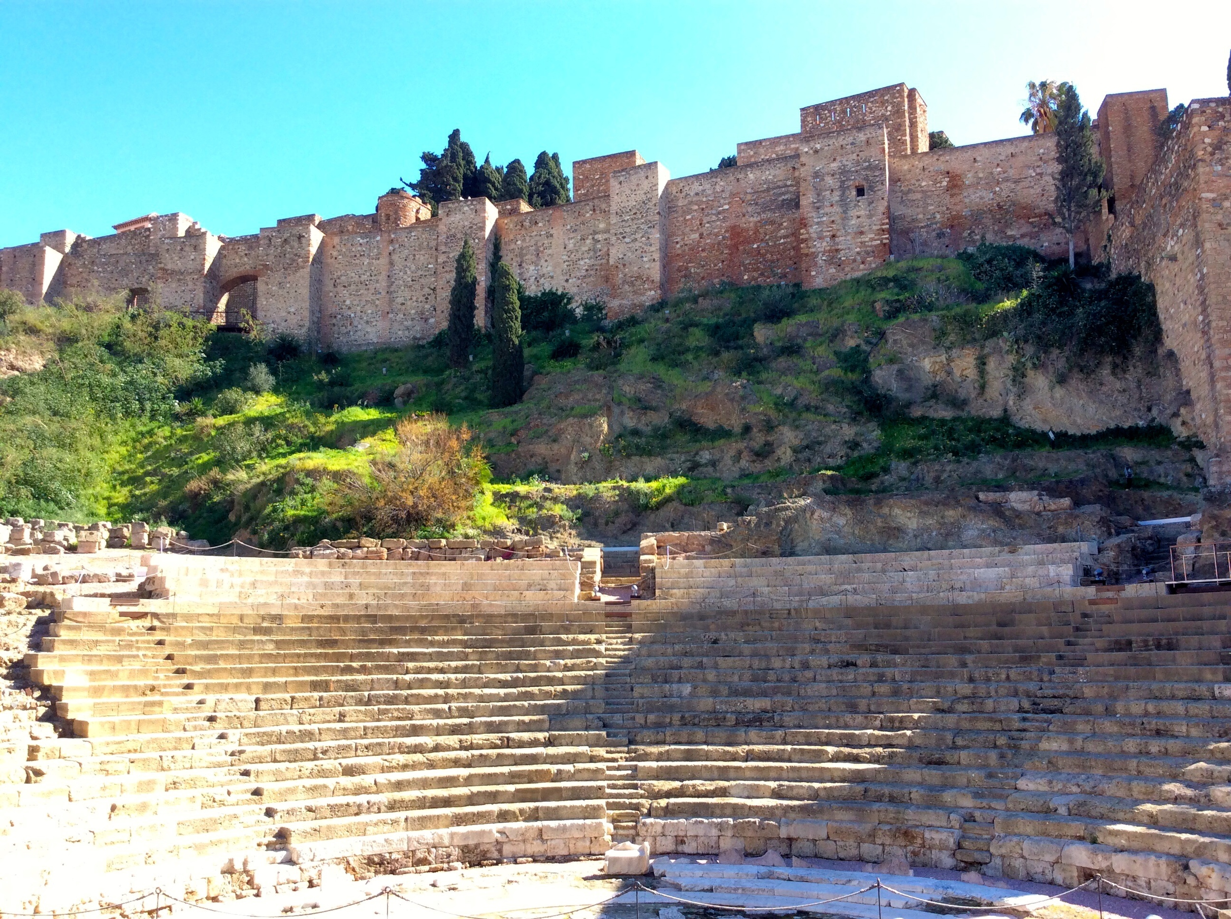 The Roman theatre, with the Alcazaba above it